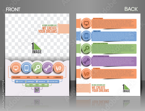 Web Service Front & Back Flyer Template