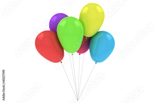 Colorful Balloons Isolated