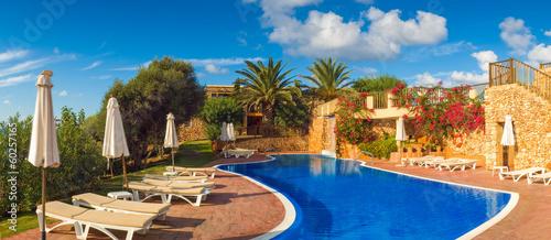 Leinwandbild Motiv Cool blue summer holiday pool