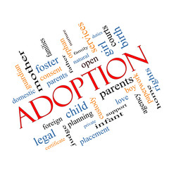 Adoption Word Cloud Concept Angled