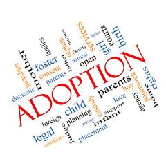 Adoption Word Cloud Concept Angled
