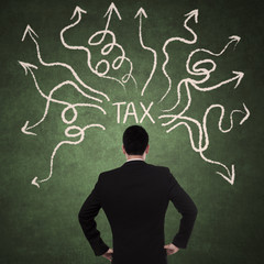 Businessman and tax problem