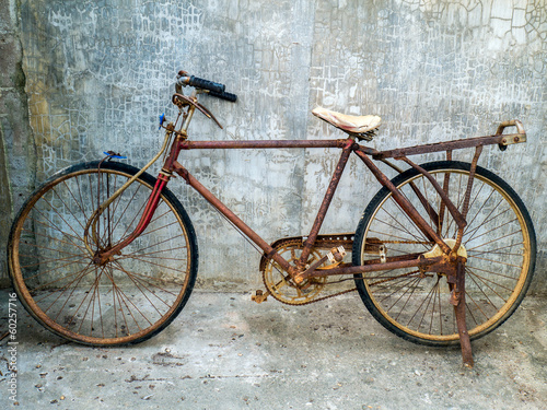 Aluminium Fiets Old vintage bicycle