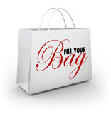 Fill Your Bag Shopping Spree Spend Splurge Binge Money