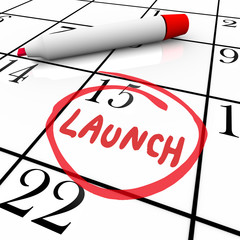 Launch Word Circled Calendar Debut New Product