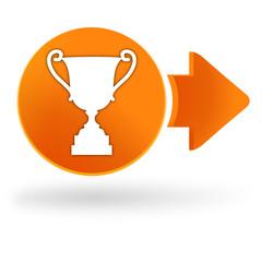 vainqueur sur symbole web orange