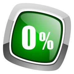 0 percent icon