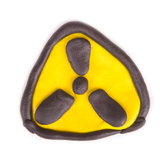 plasticine radiation sign