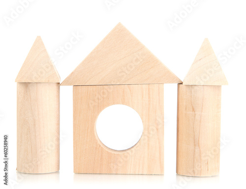 Wood house isolated on white