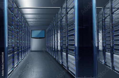 Leinwanddruck Bild Datacenter Alley