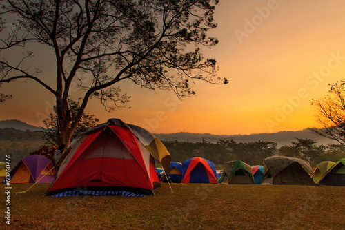 Fotobehang Overige Camping