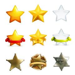 Stars icon set, vector
