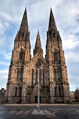 Gothic cathedrale in Edinburg Scotland