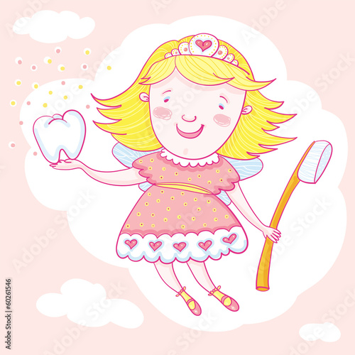 Fairy And Tooth Brush.
