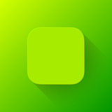 Green Technology App Icon Blank Template