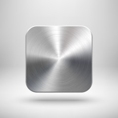 Abstract App Icon Template with Metal Texture