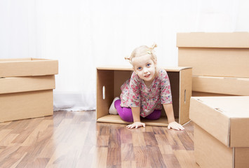 little girl in move