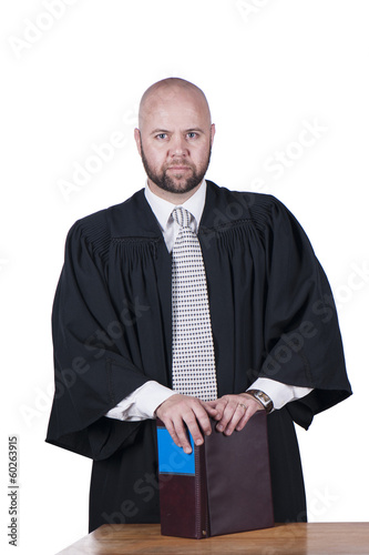 male attorney in robe