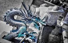 Fontaine dragon dans un temple - Japon