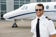 Leinwanddruck Bild - Confident Pilot Smiling
