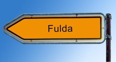 Strassenschild 7 - Fulda