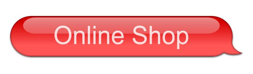 Sprechblase Onlineshop