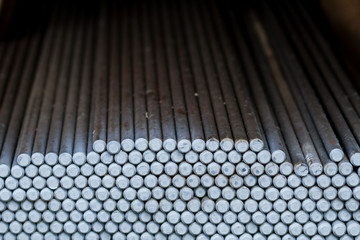 end of steel bars