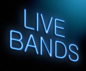 Live bands concept.