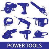 power tools icon set eps10