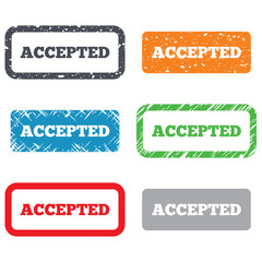 Accepted sign icon. Approved symbol