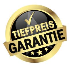 """Button mit Banner """" TIEFPREIS GARANTIE """""""