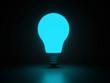 Light bulb shiny blue render