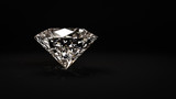 Shiny diamond on black background - 60267716