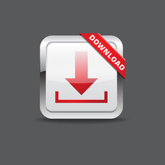 Rectangle Download Button Icon