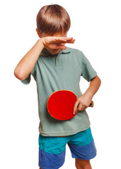 athlete sadness depression disorder blond man boy playing table
