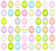 48 Easter Eggs Pattern Pastel