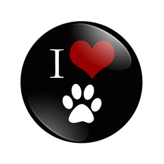 I Love Cats button