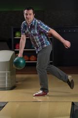 Young Man Bowling