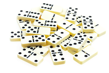 pile of scattered dominoes