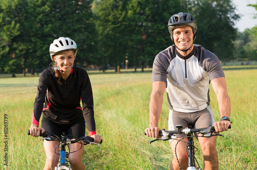 Happy Young Cyclists Couple