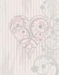 Valentine's day vintage card, vector illustration