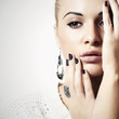 Beautiful Lovely Woman with Jewelry.Accessories. Manicure