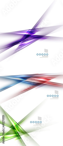 Set of blurred color shadow lines design elements
