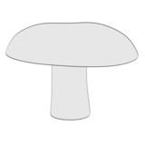 cartoon image of mushroom (eatable) poster