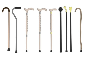 cartoon image of walking sticks