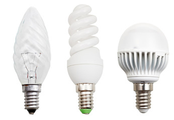 incandescent, compact fluorescent, LED light bulbs