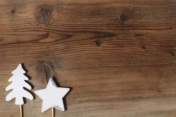 rustikaler weihnachtlicher Hintergrund - quer