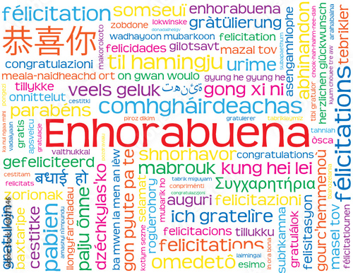 """Carta """"ENHORABUENA"""" (felicitaciones bravo saludos éxito alegría)"""