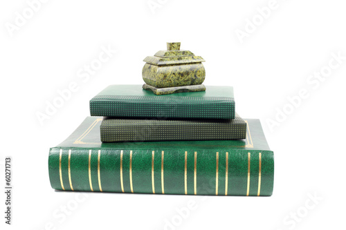 Books and malachite casket