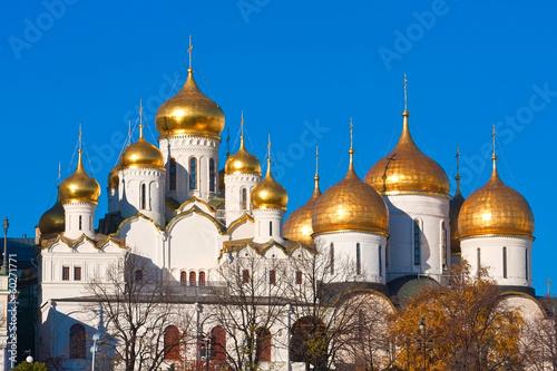 Fotobehang Vestingwerk Moscow Kremlin Cathedrals